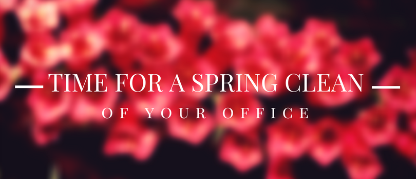 Minimalism is in. Let's start with a spring clean of your office?